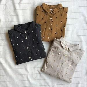【Z008】 SUNVALLEY サンバレー コットン起毛総刺繍シャツ 全3色