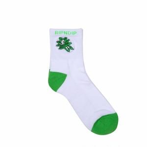 RIPNDIP - Tucked In Socks (White / Green)