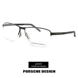 ポルシェデザイン メガネ p8318-a PORSCHE DESIGN 眼鏡 porschedesign ナイロール ハーフリム スクエア メタル 黒縁 黒ぶち