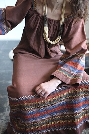 Guatemala brown  dress