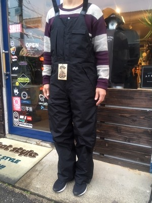 Green Clothing  Bib Pants  Black/D.Purple Lサイズ