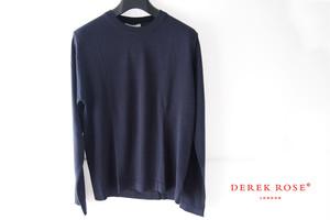 デレクローズ|DEREK ROSE|ロングスリーブジャージートップ|ルームウェア|M|ネイビー