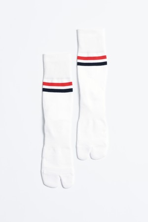 '90s Line Socks(White × Red/Navy)