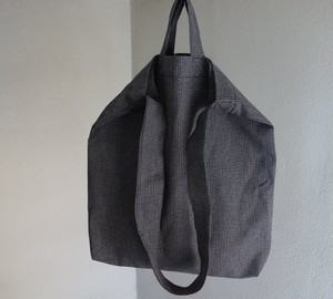 farmers tote bag / grey saltandpepper stripe