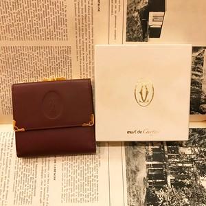 -dead stock- Cartier leather wallet