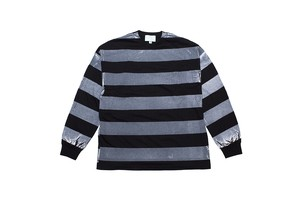 "EZ DO by EACHTIME. ""PRINT BORDER L/S"" BK/WH"