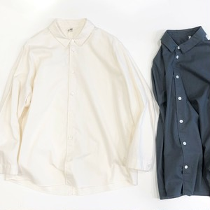 FIRMUM 【フィルマム】 20S ROUGH COTTON SHEETING Regular collar shirt