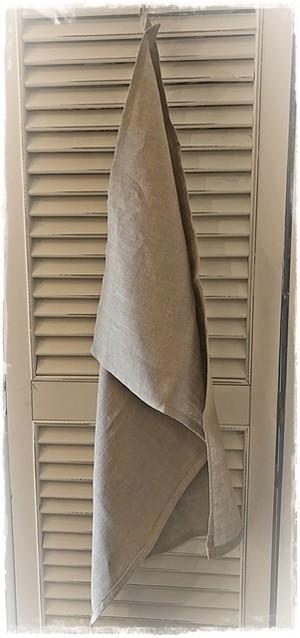 リネンクロス 生成 フック付き 46×69cm