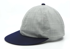 """velo spica international"" Flip Up B Caps merino wool col.LG × navy"