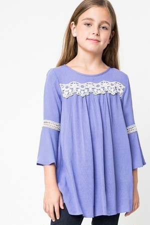 Bell Sleeve Lace Dress(Girl)