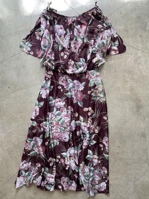vintage floral pattern sheer onepiece