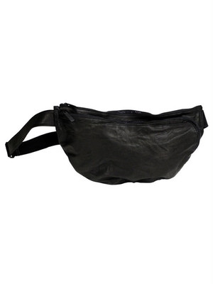 Leather-washed bodybag 'zipped twist' ボディバッグ 142ABG11