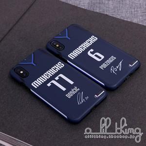 「NBA」ダラス マーベリックス 2019-20シーズン ステイトメントエディション ジャージ ルカドンチッチ クリスタプスポルジンギス サイン入り iPhone11 Pro iPhone8 ケース