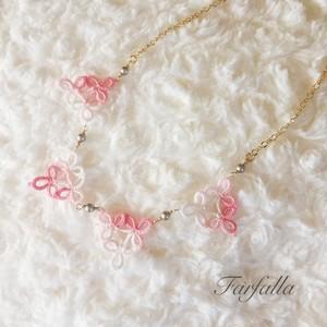 タティングレースのネックレス~Spring~