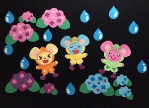 【6月壁面装飾】雨ってたのしいな