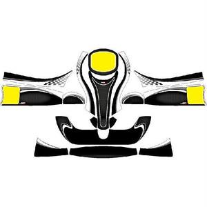 レーシングカート用 カウルステッカー フリーライン用Yb-BC 特注品