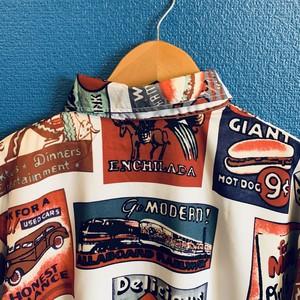 オールドアメリカンサインのアロハシャツ