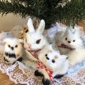 wild white ♡4体セット ふわもこ オーナメント  クリスマスツリー クリスマスオーナメント