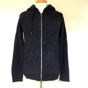 Micro-Fiver Knit Parka Black