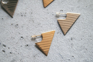 Triangle cymbal earrings【ピアス】