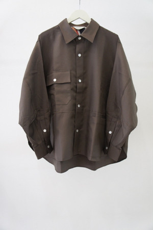 CUT OFF OVER SHIRT -KHAKI- / JieDa