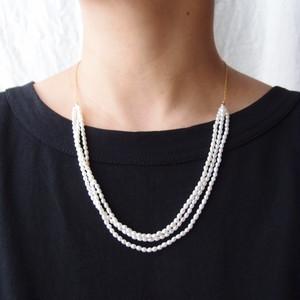 パールネックレス … rice pearl【K14gf】3連 Large