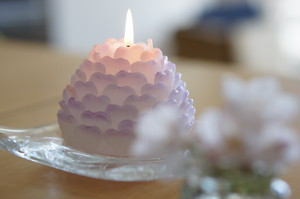 ハートの花びらキャンドル petals of heart candle