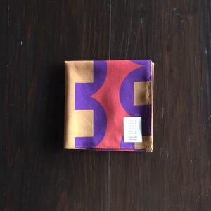 綿ローンハンカチーフ(朝顔)size:50cm×50cm