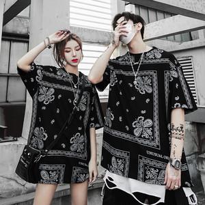 【トップス】ペアルック韓国系半袖プリントかっこいいTシャツ30676919