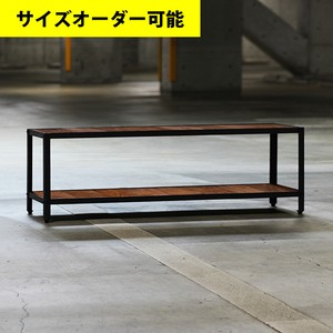 IRON FRAME LOW SHELF FLOAT 127CM[TEAK COLOR]サイズオーダー可