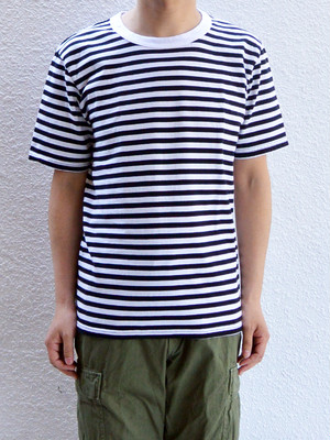 have a good day Border s/s Tee【White×Black】