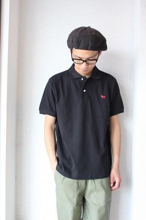 weac (ウィーク) / Pagchan Polo Shirts(パグちゃん ポロシャツ)ブラック