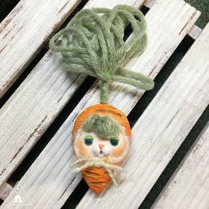 お野菜ちゃんブローチ(にんじんちゃん3)