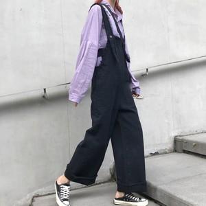 【ボトムス】無地合わせやすいファッションオーバーオール34370569