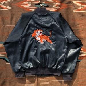 70's ナイロンジャケット ビンテージ スタジャン Nylon Jacket 虎刺繍(S)