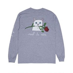 RIPNDIP -  Romantic Nerm L/S (Heather Gray)