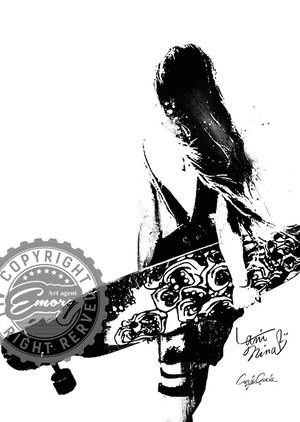 Craig Garcia × Lani Nina 作品名:HORSE SHOE ARMOR 01 A4キャンバスポスター【商品コード: cglanitwl01】