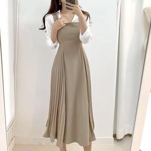 サイドプリーツジャンパースカートML1395