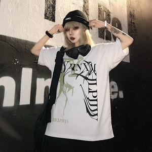 【トップス】ストリート系ラウンドネックアルファベット半袖Tシャツ26655458