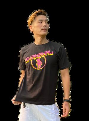 【SKANDHAL】CERCHIO Tシャツ 【ブラック】【新作】イタリアンウェア【送料無料】《M&W》