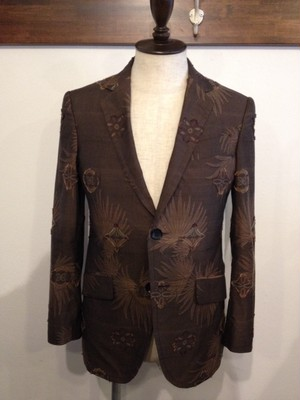 pattern cut jaquard 2B tailored jacket(votole)