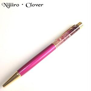 【天然石ピンクトルマリン入り】ピンクグラデーションのボールペン