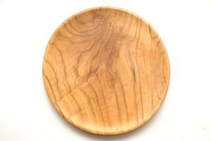バリのチーク製ラウンドプレート ラウンド皿 カフェプレート ランチプレート 木製 無垢材 食器 ウッド
