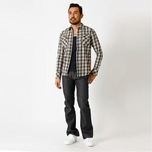 ヌーディージーンズ チェック シャツ メンズ GUNNAR 140381 R01 Red Nudie Jeans