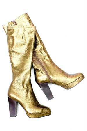 gold long boots
