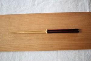 大内工芸|ダイヤカット研出箸(黒)
