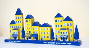 黄色いミニハウスの街