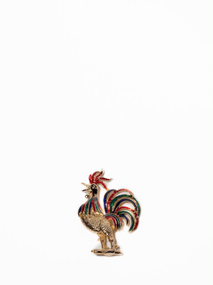 Rooster Pin Brooch / America