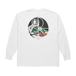 POLAR SKATE CO. LOMBO FILL LOGO LONGSLEEVE TEE WHITE L ポーラー Tシャツ