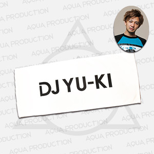 DJ YU-KI ロゴフェイスタオル